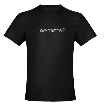 Have grammar shirt also available in women's sizes